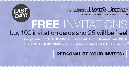 PERSONALIZE YOUR INVITES