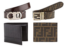 Luxe Little Extras Men's Belts, Wallets, & More