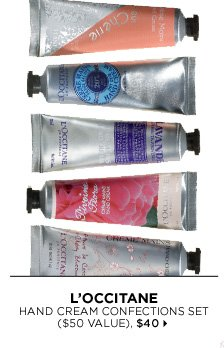 new . exclusive . limited edition. L'Occitane Hand Cream Confections Set ($50 Value), $40