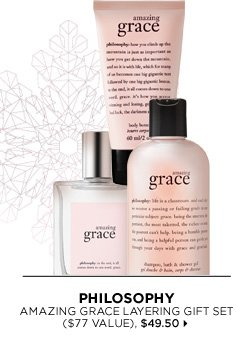 new . limited edition. Philosophy Amazing Grace Layering Gift Set ($77 Value), $49.50