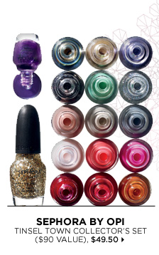 new . exclusive . limited edition. SEPHORA by OPI Tinsel Town Collector's Set ($90 Value), $49.50