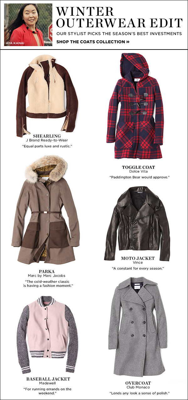 Shop with a pro! Our senior stylist shows you the top coats to invest in this season. Shop the coats collection >>