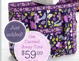 Just Added! Get Carried Away Tote - $59.99