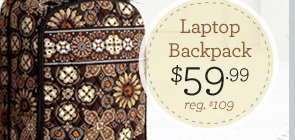 Laptop Backback - $59.99