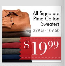 Signature Pima Cotton Sweaters - $19.99 USD