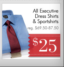 Executive Dress Shirts & Sportshirts - $25 USD