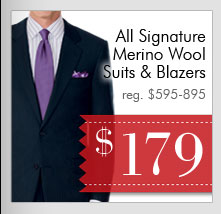 Signature Wool Suits & Blazers - $179 USD