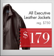 Executive Leather Jackets - $179 USD