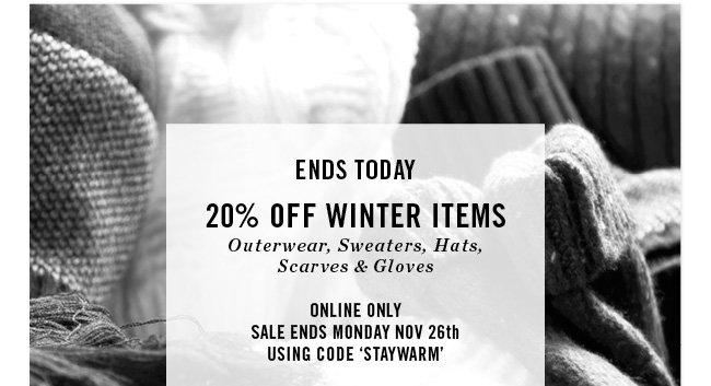 20% off winter items