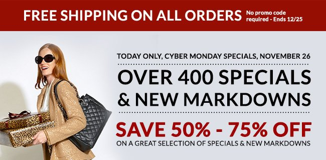 Cyber Monday Specials - Today Only