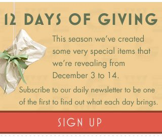 12 Days of Giving - Sign Up