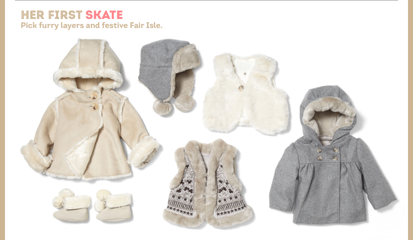 HER First SKATE | Pick furry layers and festive Fair Isle.