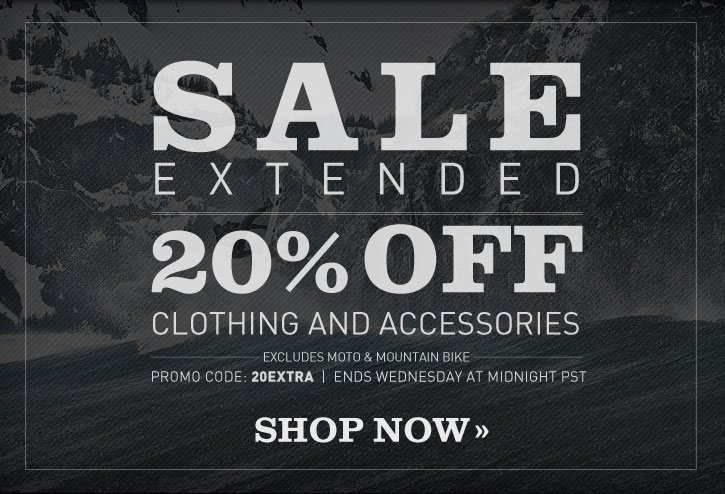 Sale Extended 20% Off