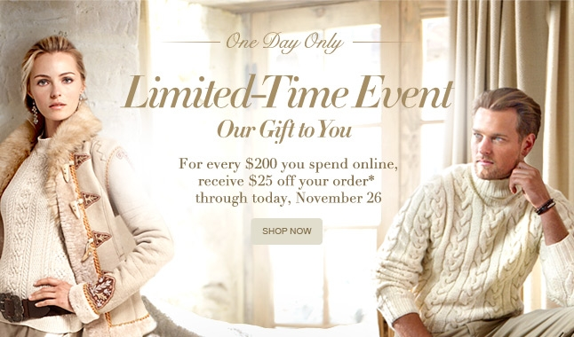 One Day Only: Limited Time Event