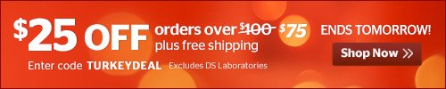 $25 off orders over $75