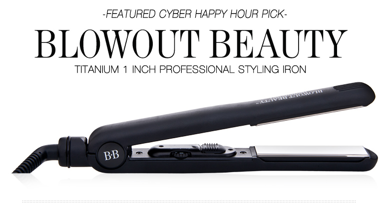 Blowout Beauty Titanium 1 Inch Professional Styling Iron  WAS: $130  Happy Hour Price: $65  BUY NOW>>
