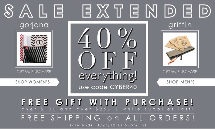 Sale Extended | 40% Off Everything