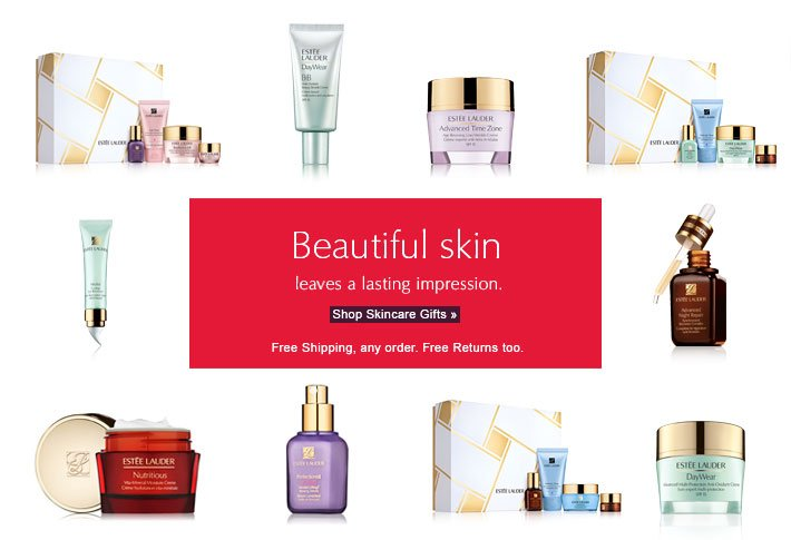 Beautiful skin leaves a lasting impression. Shop Skincare Gifts » Free Shipping, any order. Free Returns too.