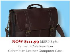 Kenneth Cole Reaction Leather Laptop Case