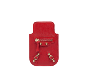 Classic Gold Smart Phone Pouch Red