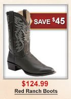 $124.99 Red Ranch Boots