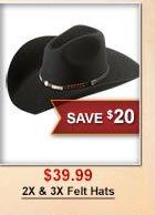 2X & 3X Felt Hats