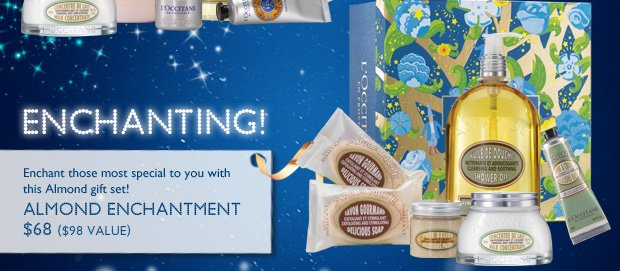 Enchanting!  Enchant your loved ones with this Almond gift set this holiday!