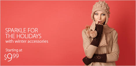 Sparkle for the holidays with winter accesories