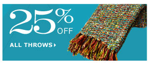 25% off all throws