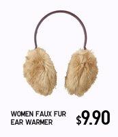 WOMEN FAUX FUR EAR WARMER
