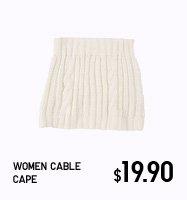 WOMEN CABLE CAPE
