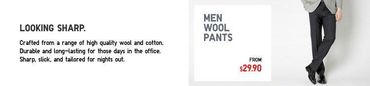 MEN WOOL PANTS