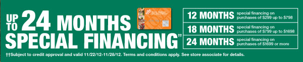 Up to 24 Months Special Financing*