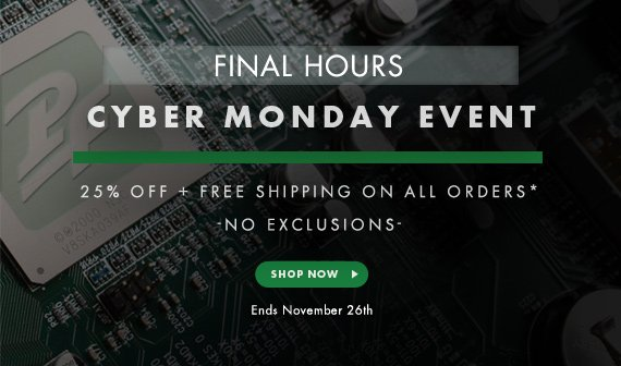 Cyber Monday - 25% Off + Free Shipping on All Orders