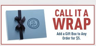 Add a Gift Wrap to your Order for $5