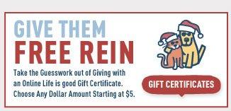 Shop Online Gift Certificates