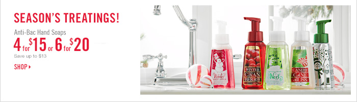 Anti–Bac Hand Soap – 4 for $15 or 6 for $20