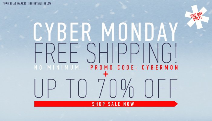 Free Shipping & Cyber Monday Sale - 1 Day Only! - Shop Now