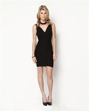 Herve Leger Lauren Double-V Bandage Dress