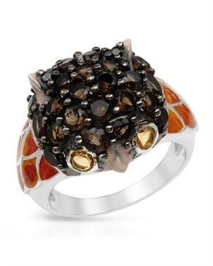 Ladies Topaz Ring Designed In Sterling Silver