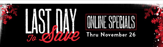 Black Friday Online Specials