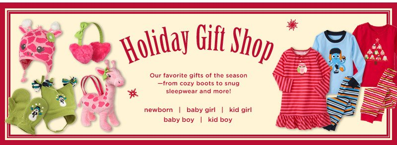 Holiday Gift Shop. Check out our favorite gifts of the season - from cozy boots to snug sleepwear and more! Limited time only. While supplies last.
