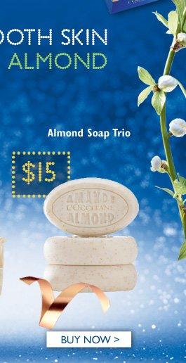 Almond Soap Trio $15  Buy Now >
