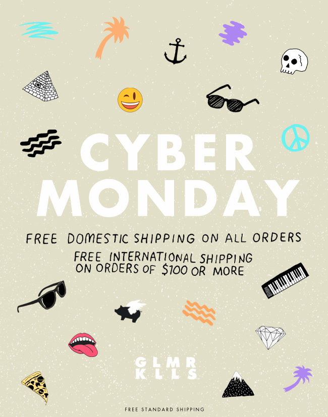Cyber Monday | Free Domestic Standard Shipping on all orders.  Free standard shipping on all orders over $100