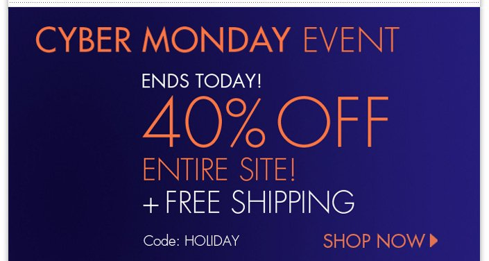 Last day of our Black Friday Event. 40% OFF Entire site + Free Shipping. Use code: HOLIDAY