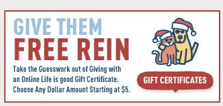 Give them a Life is good Gift Certificate this Holiday