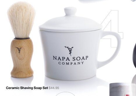 Ceramic Shaving Soap Set $44.95
