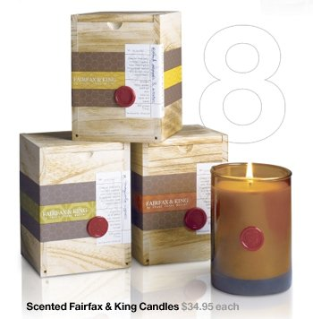 Scented Fairfax & King Candles $34.95  each