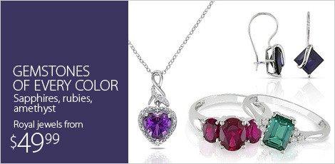 Gemstones of every color, sapphires, rubies, amethyst