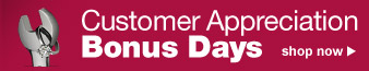 Customer Appreciation Bonus Days | shop now